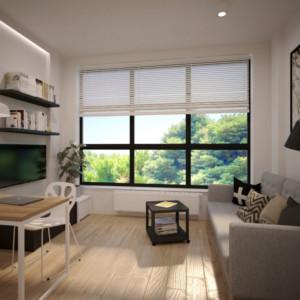 Aranżacja wnętrz apartamenty Hydral mikro apartament pod inwestycję Wrocław